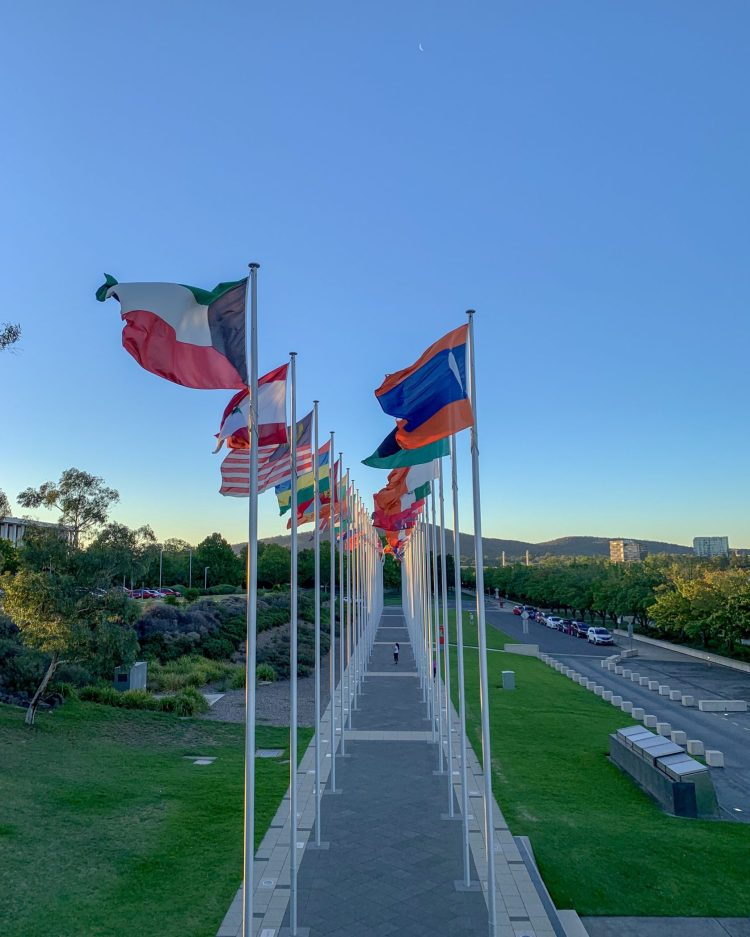 Flags in Canberra