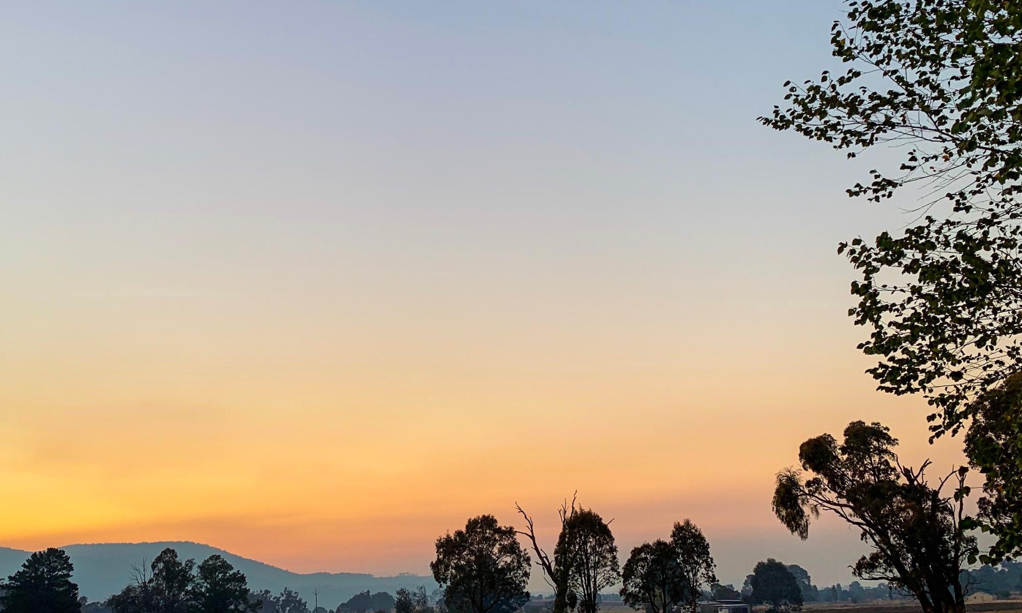 Morning sky over Tumbarumba