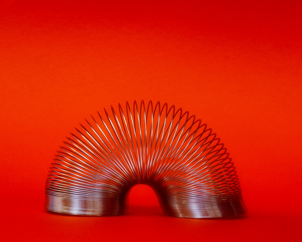 Put a spring in your step - with an old fashioned slinky!