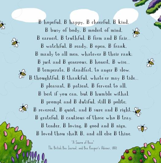 Bee poster from Red Tractor Designs