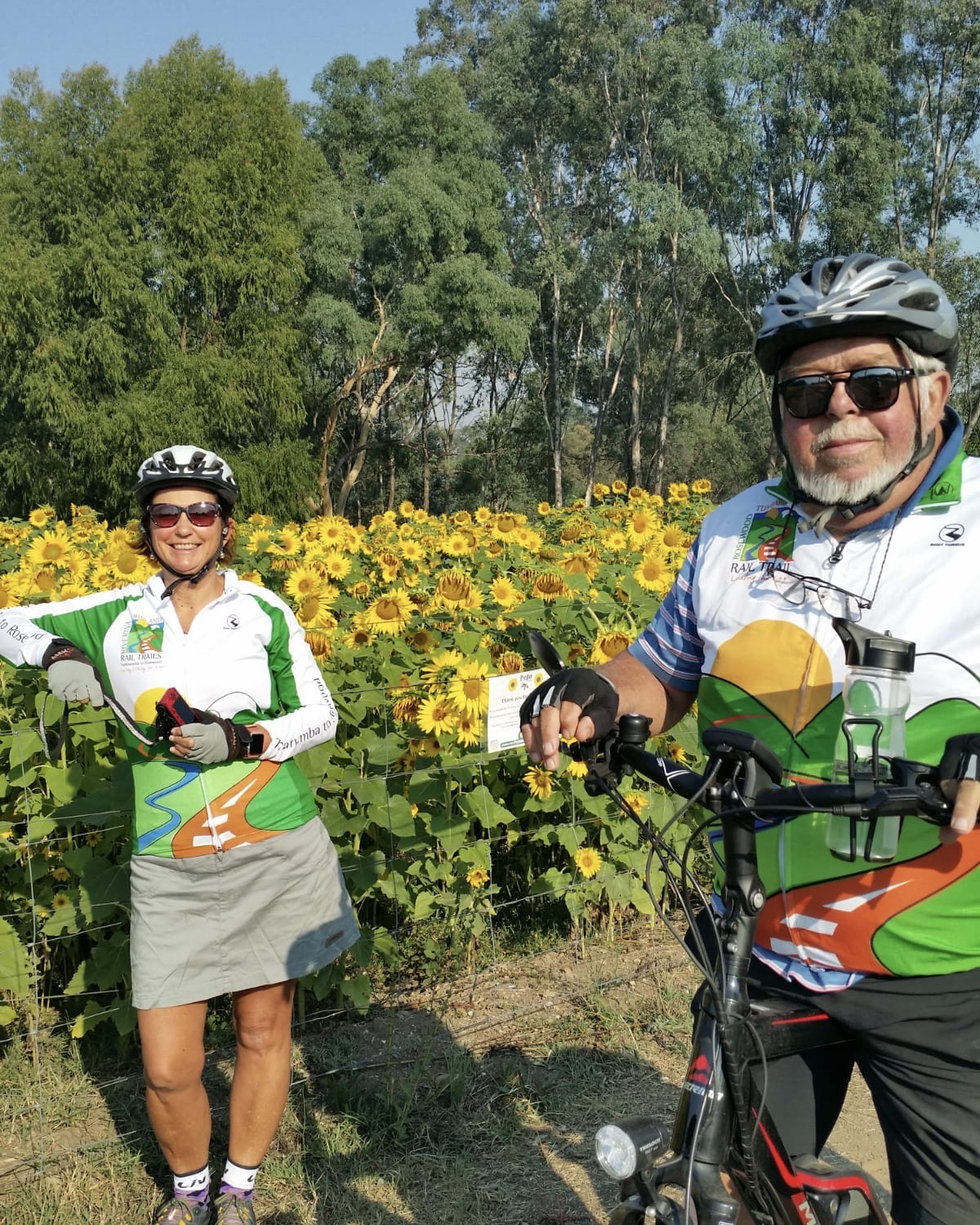 Cycling on the Murray to Mountains Rail Trail