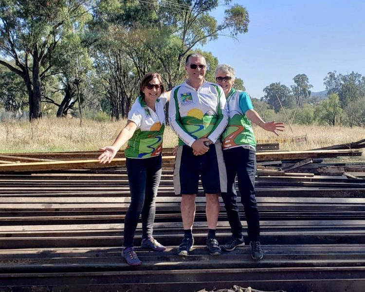 A happy day with the official turning of the sod of the Tumbarumba to Rosewood Rail Trail