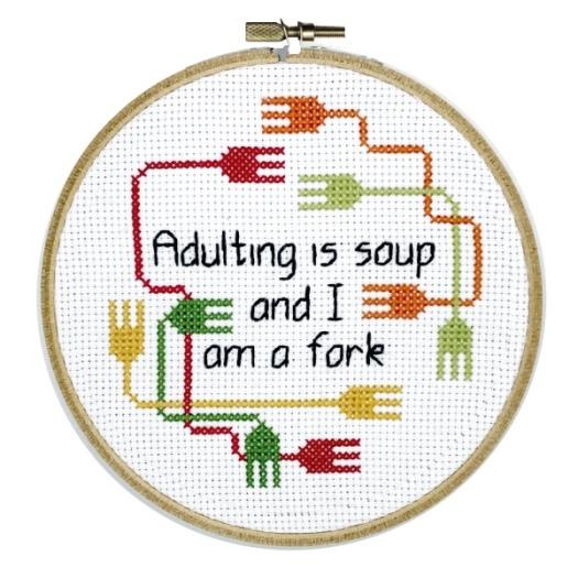 Adulting cross stitch