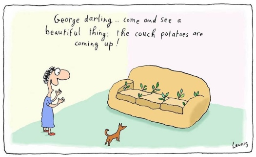 Leunig's couch potatoes