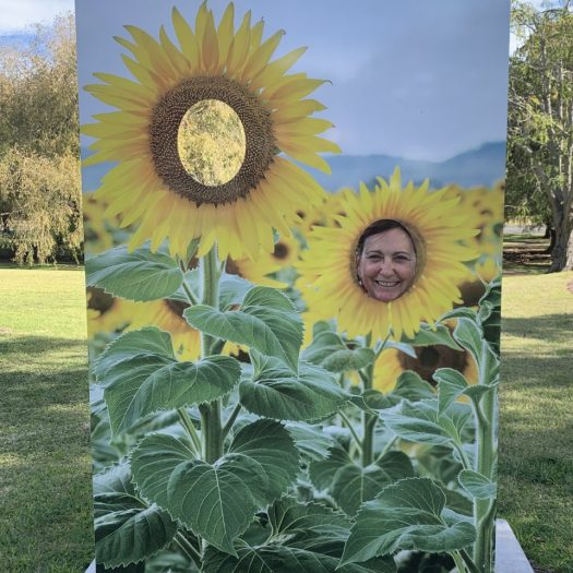Debbie as a sunflower
