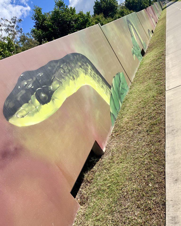 Art along the path - snake