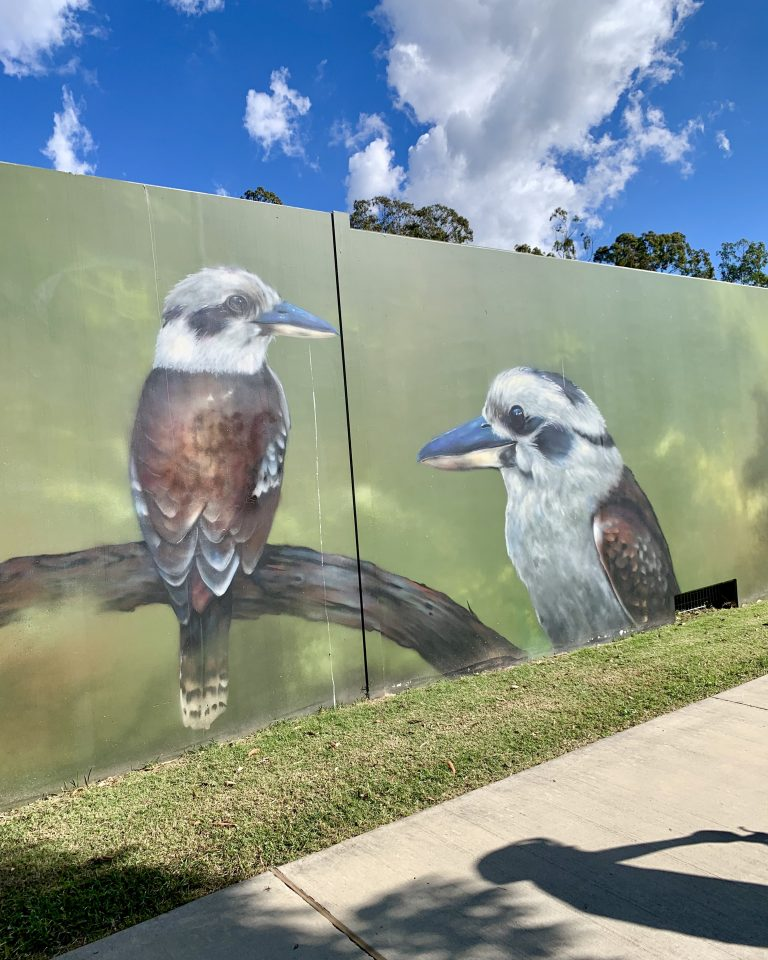 Art along the path - kookaburras