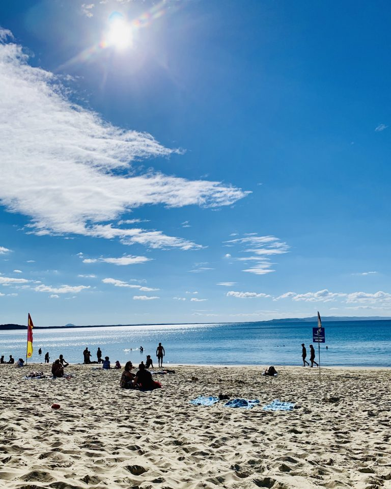 Surf beach at Noosa