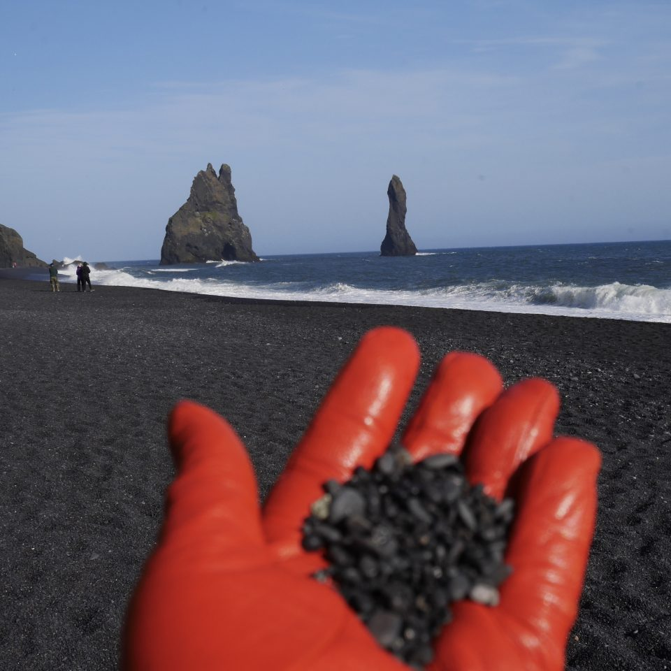 Black sand in Iceland