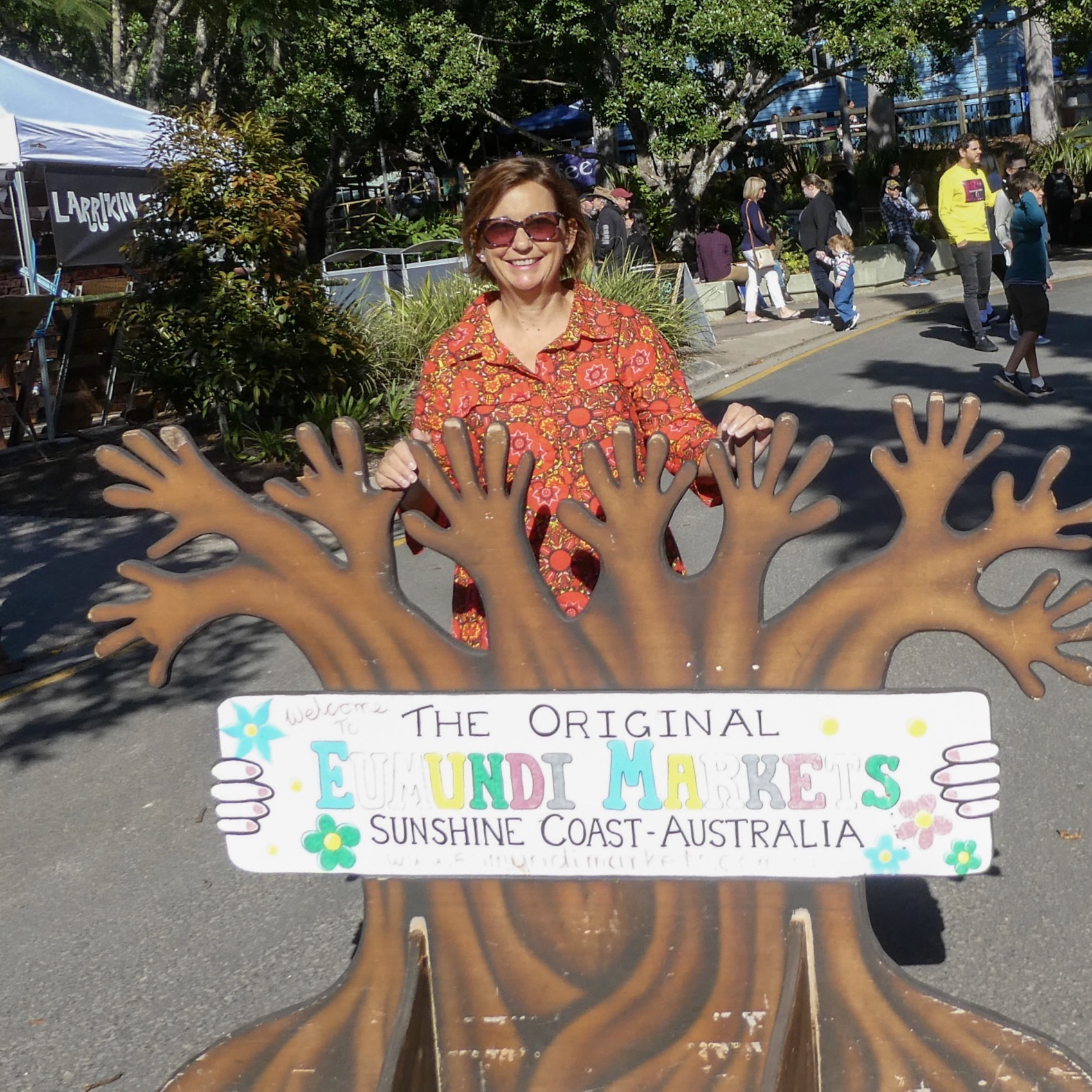 Debbie at Eumundi Markets