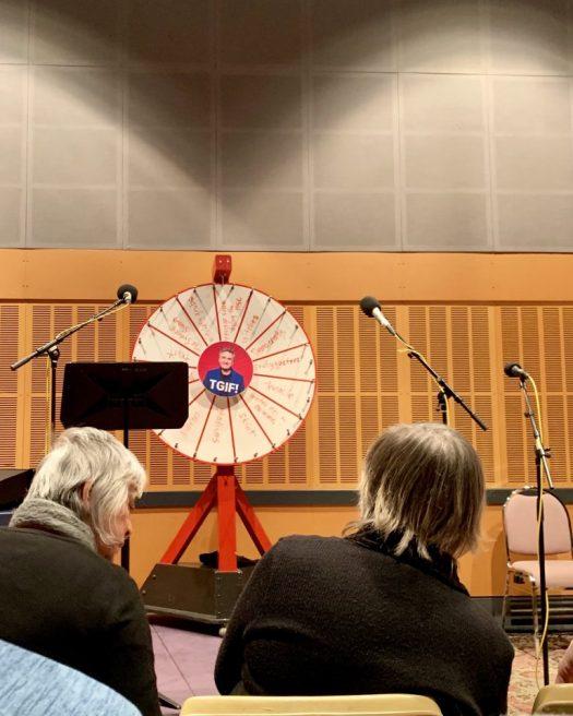 The wheel of death at TGIF radio show