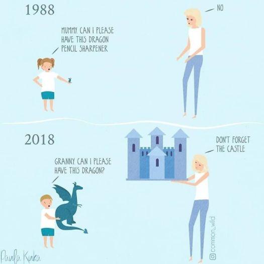 Grandma and baby cartoon