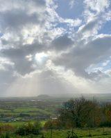 Sunshine over rural Somerset