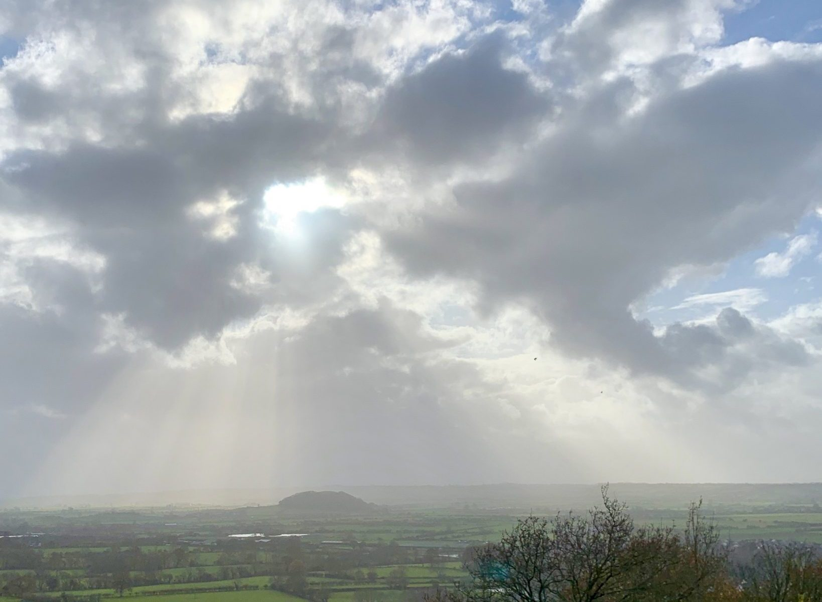 Sunshine over rural Somerset
