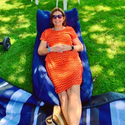 Relaxing Debbie at Tumbafest