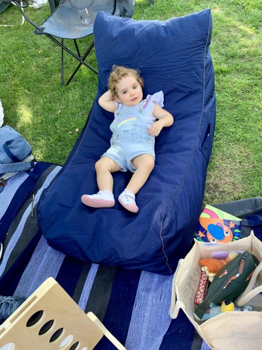 Emilia relaxing at Tumbafest