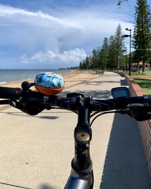 Riding along the beach