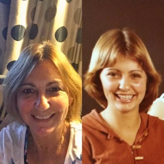 Debbie photos 44 years apart