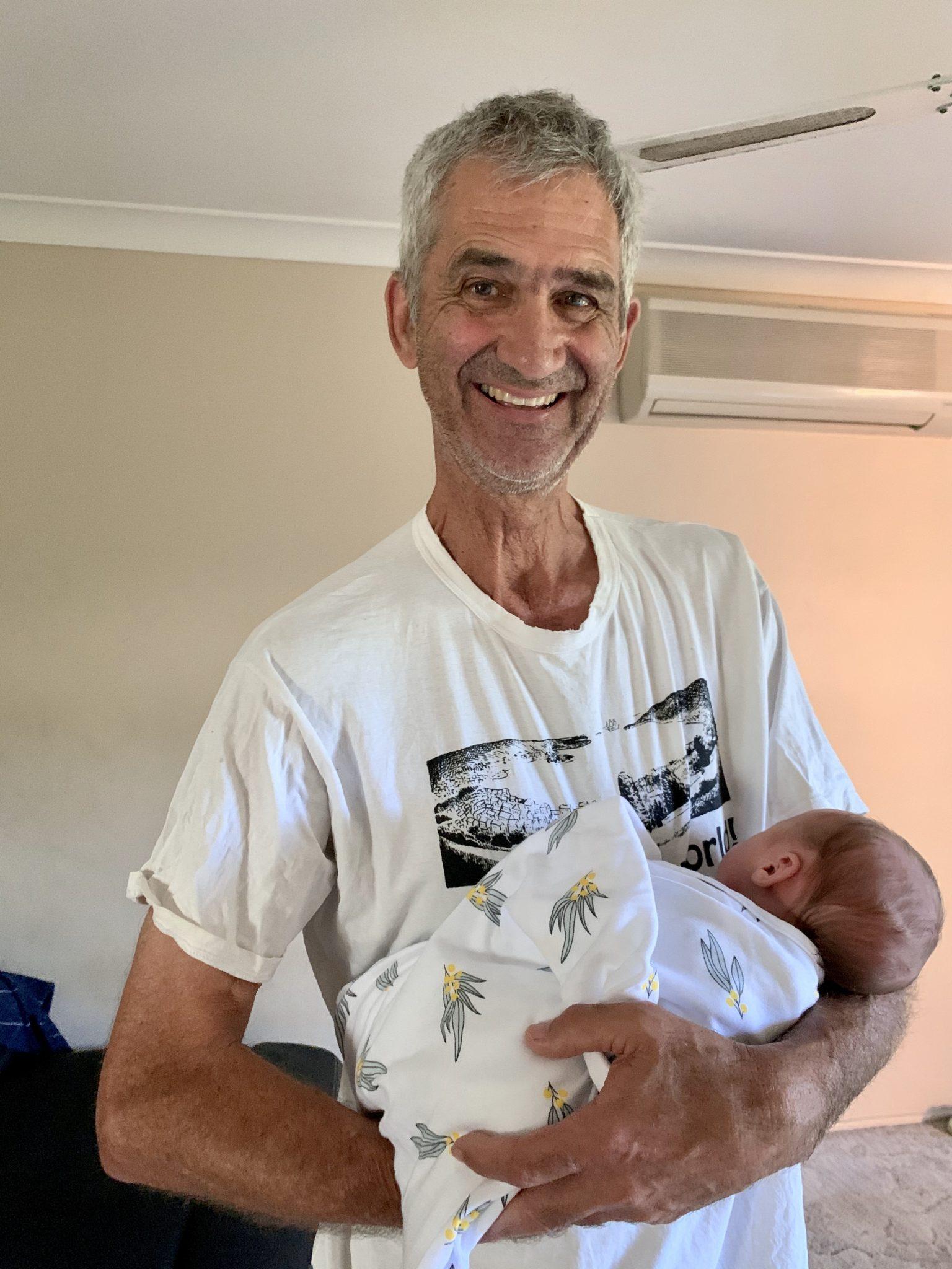 Papa G and baby Patrick
