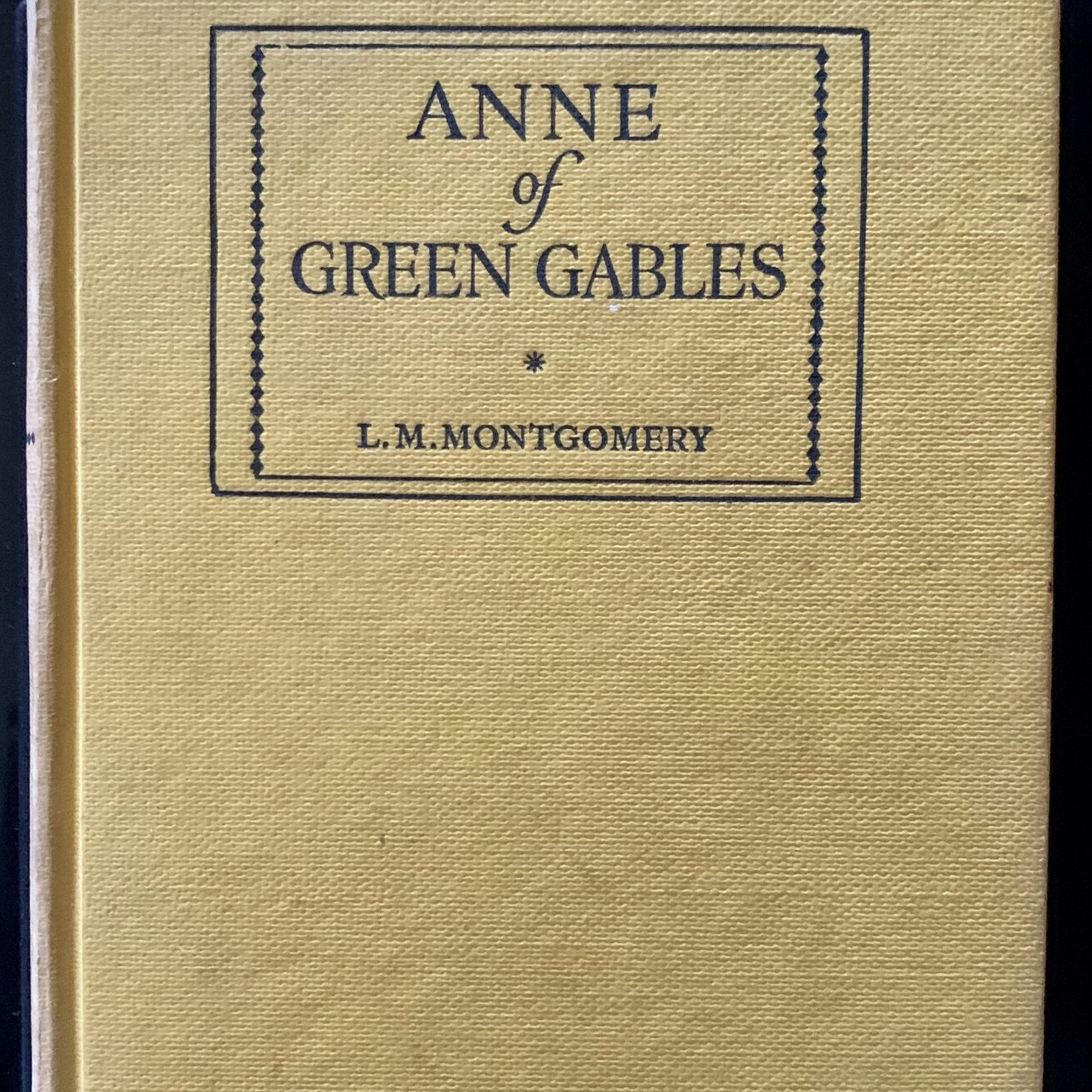 Anne of Green Gables - a favourite book