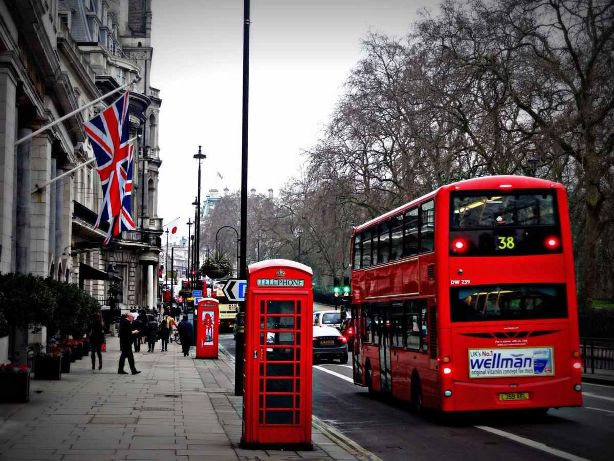A bus in UK