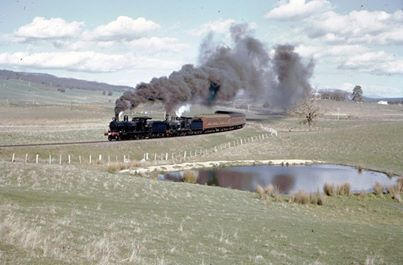 1960 Steam - heading to Mannus Wines from Glenroy