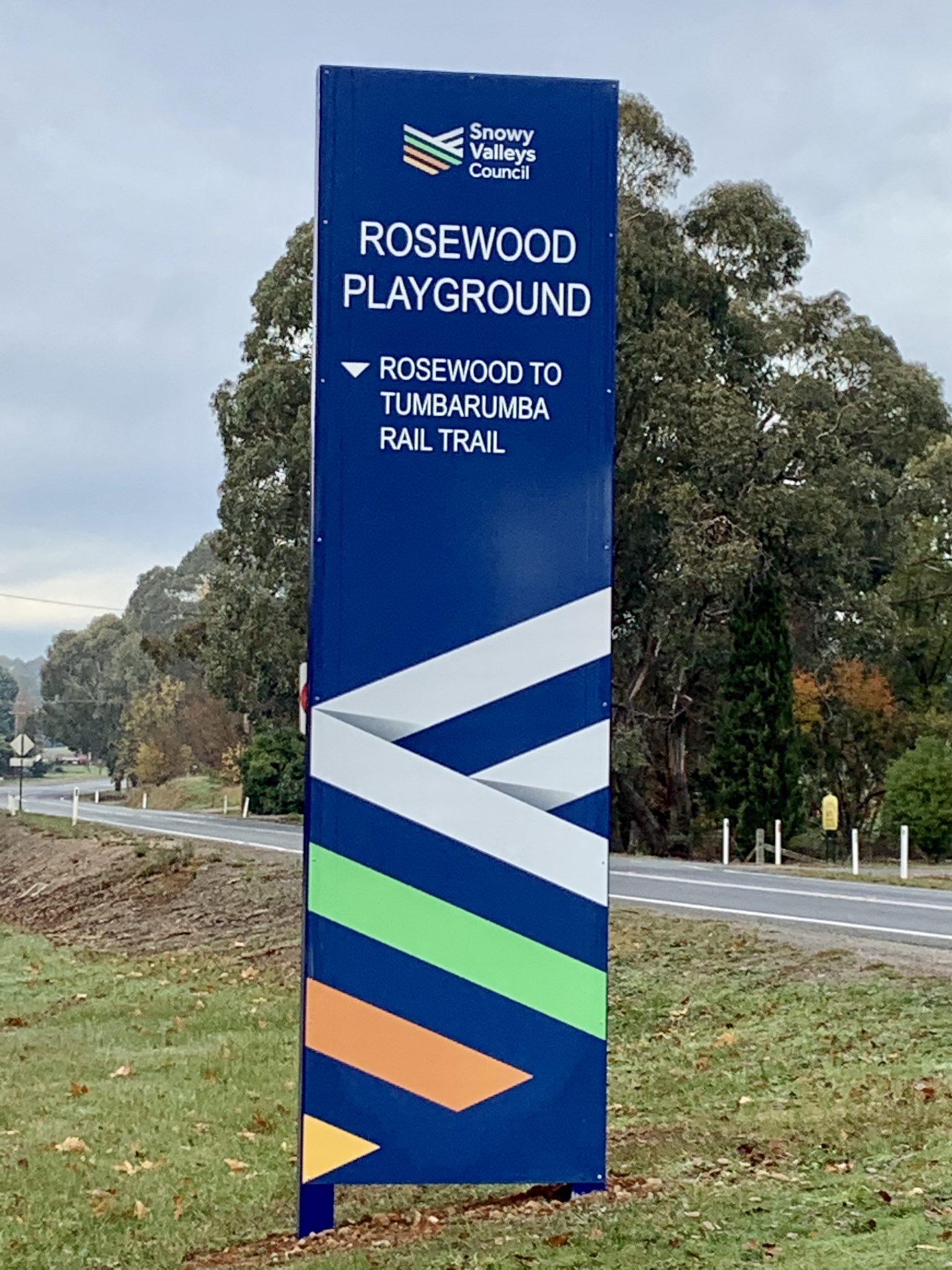 Rosewood playground on the rail trail