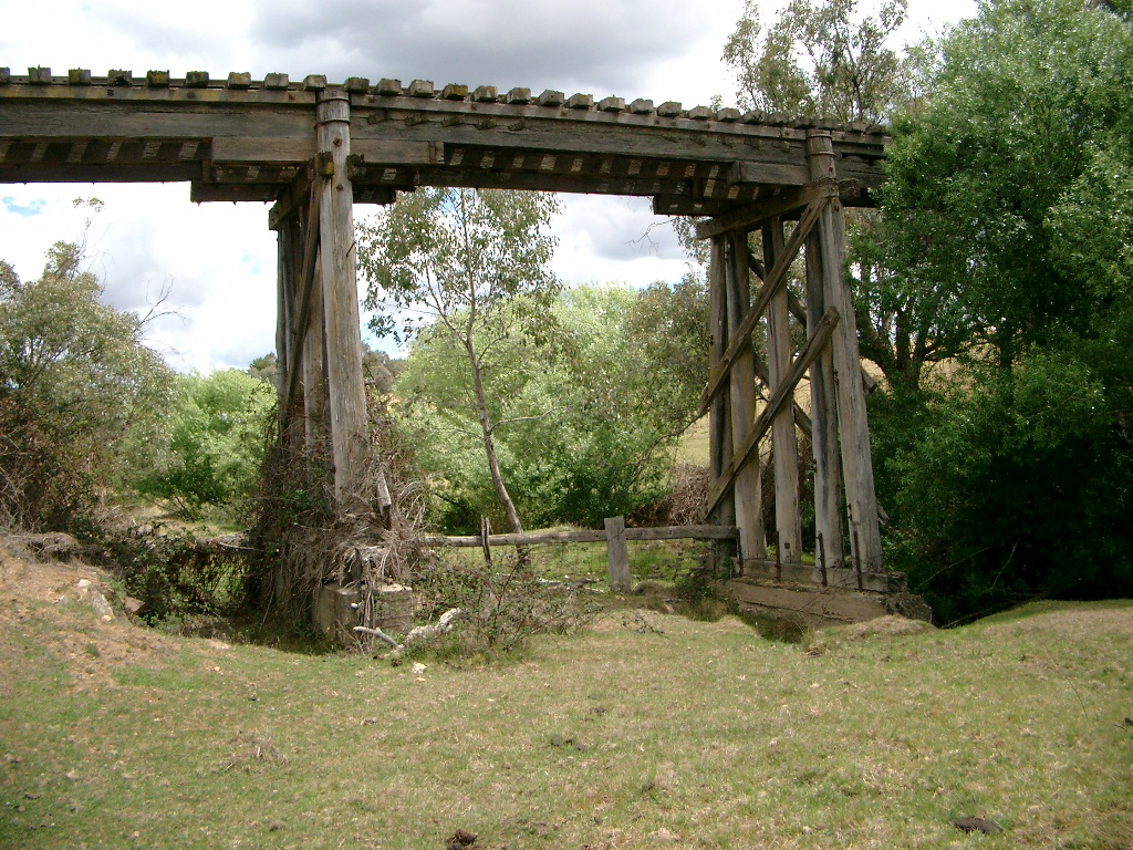 Mannus Creek Bridge on the rail trail