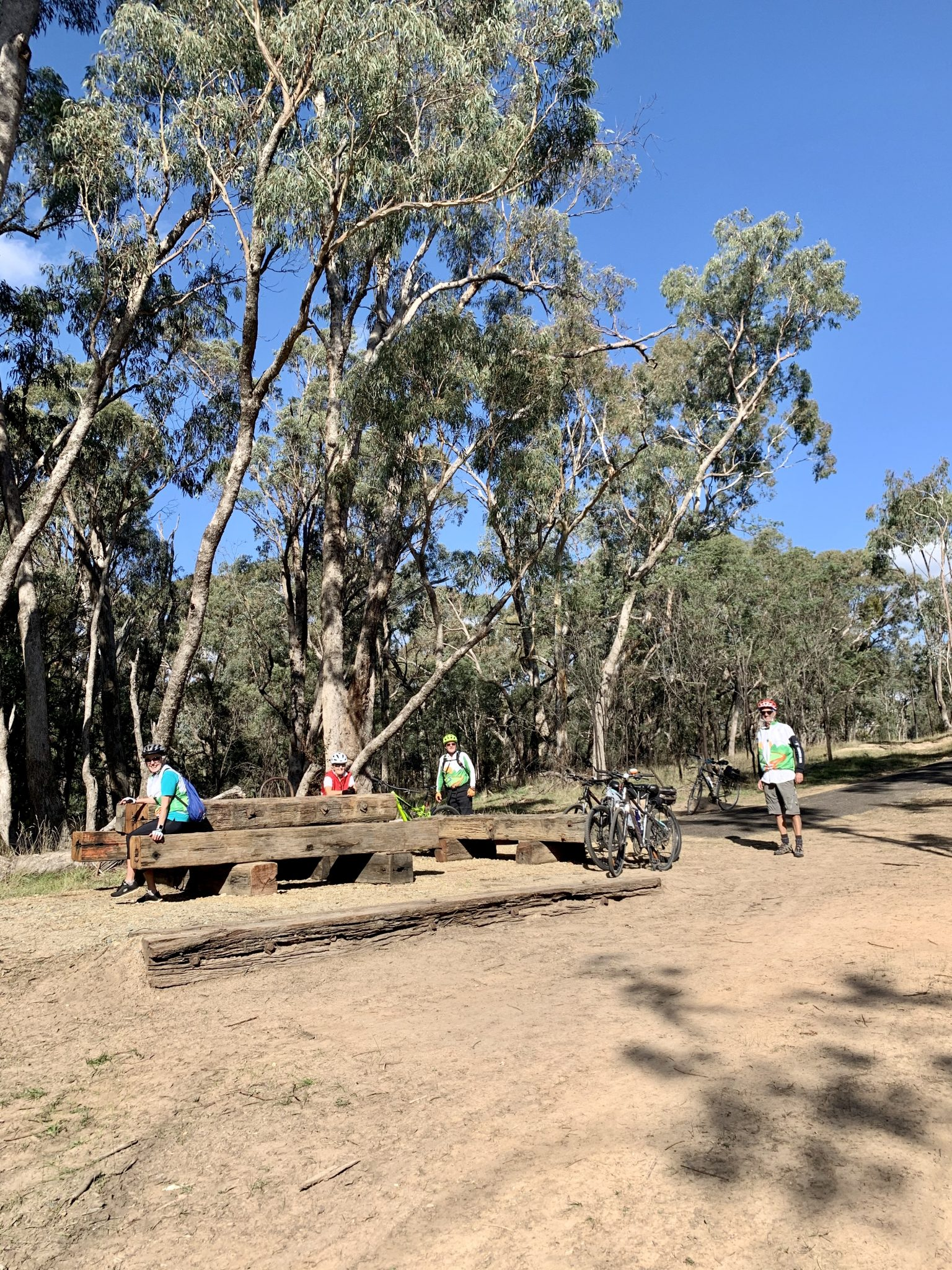 Sawpit creek picnic area on rail trail