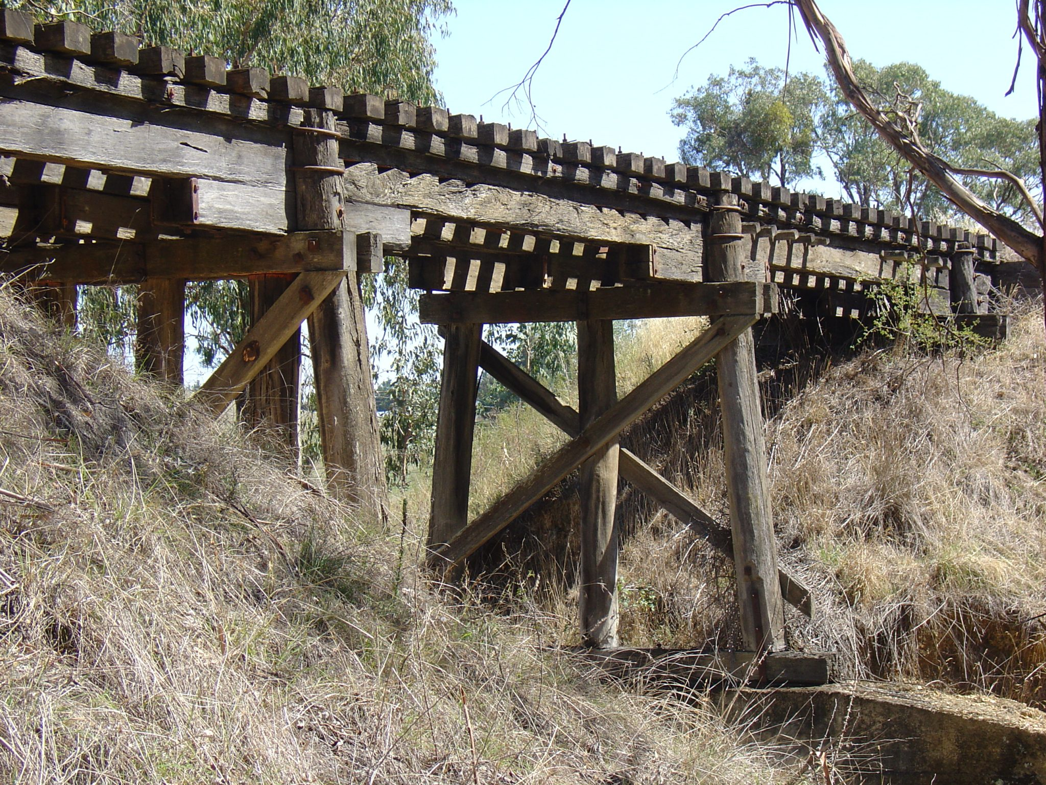 Sawpit Creek bridge on the rail trail