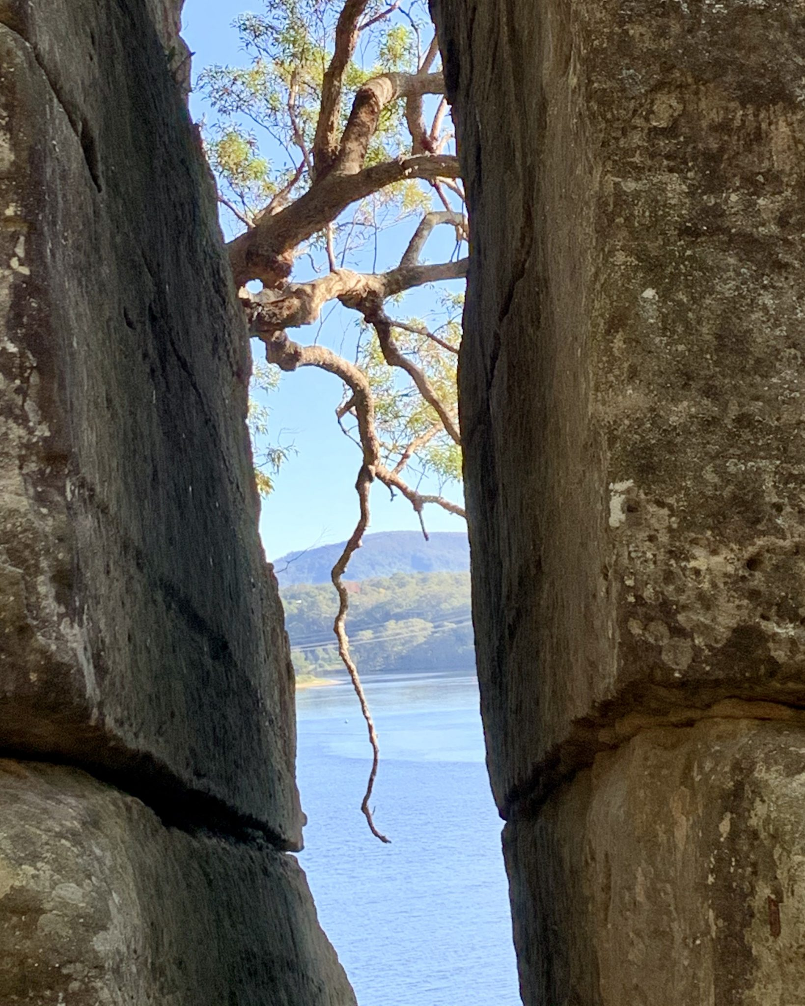 Between the rocks - at Ben's Walk near Hanging Rock