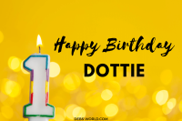 Dottie's first birthday