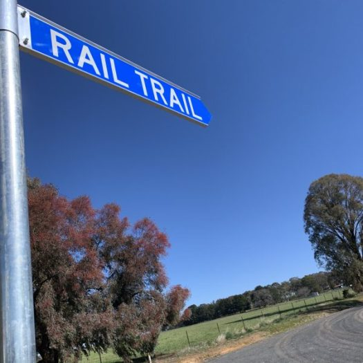 Rail Trail sign at Figures st