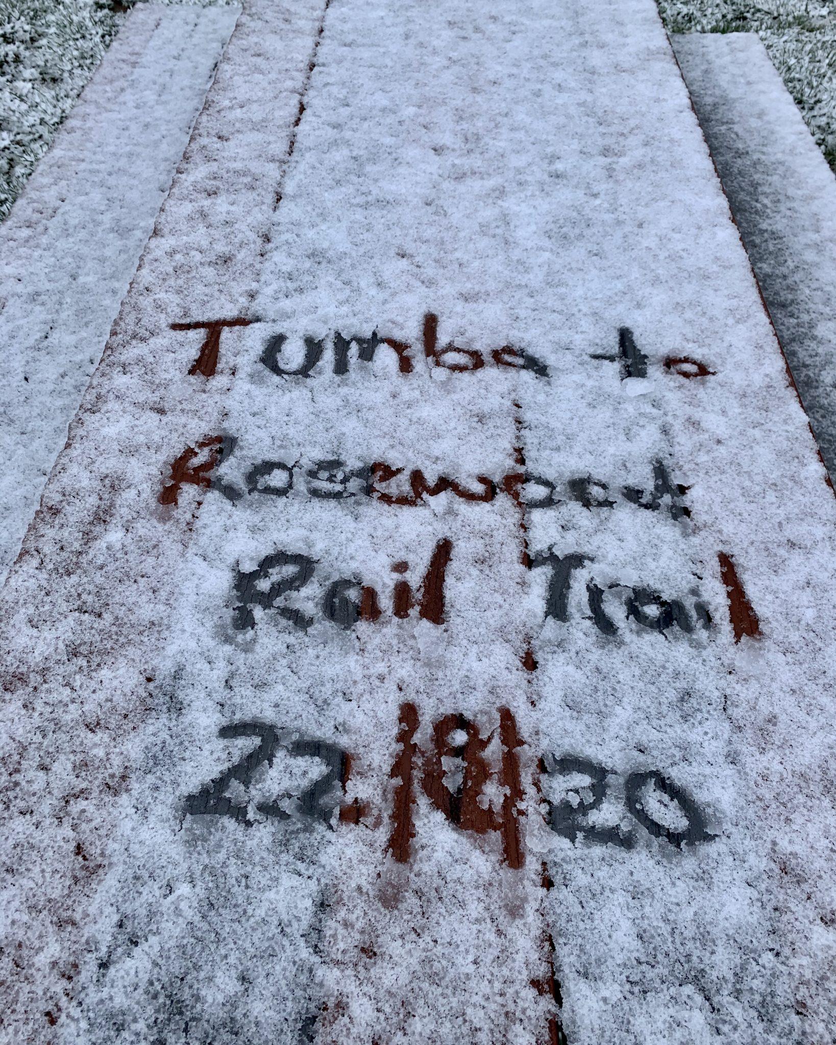 rail trail snow day