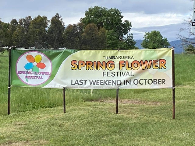 Spring flower festival welcome to Tumbarumba