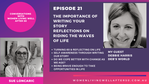 Guest on Conversations with Women Living well After 50