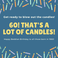Happy Beddian Birthday to those of us born in 1960!