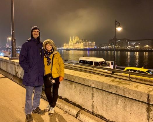 Budapest at night December 2019