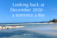 December 2020 in a sentence a day