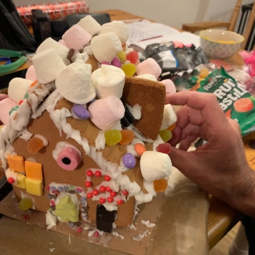 gingerbread house before