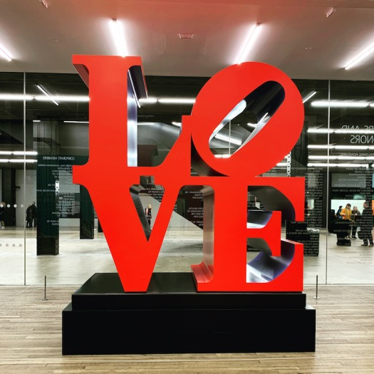 Love sculpture at Tate Modern in London