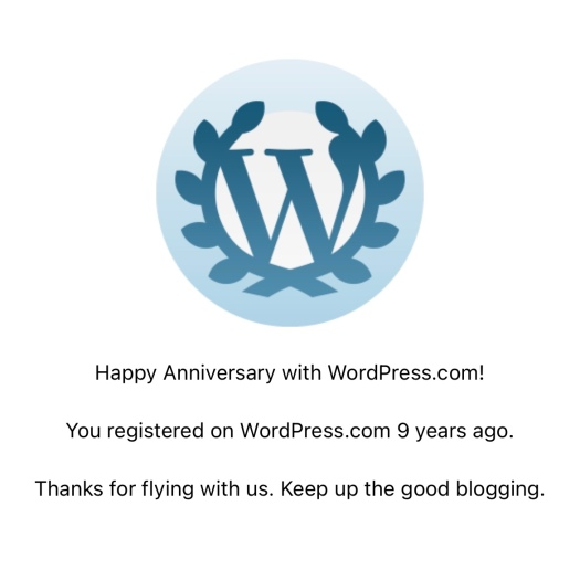 9 year anniversary of blogging