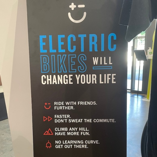 electric bikes poster