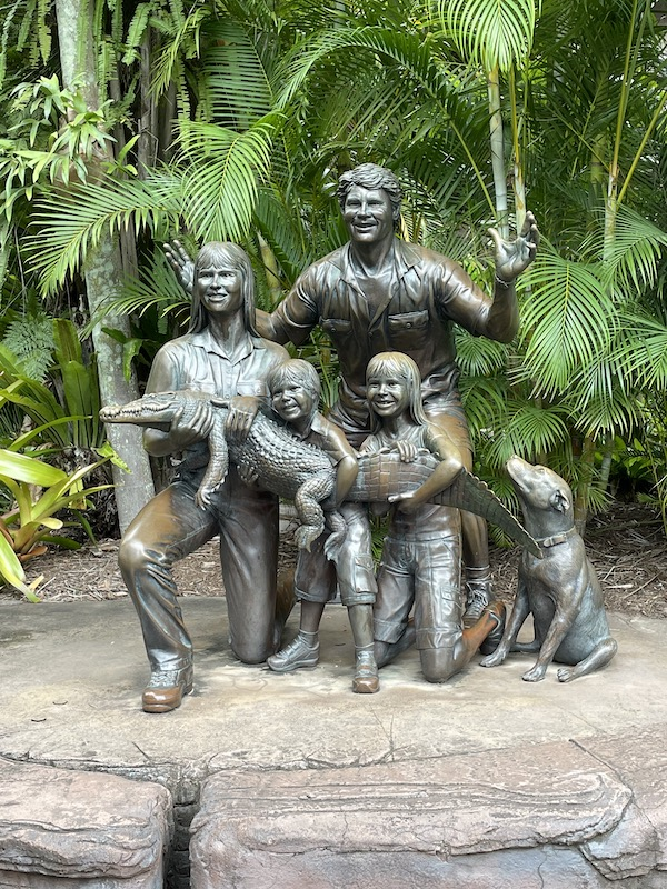 Irwin family statue at Australia Zoo