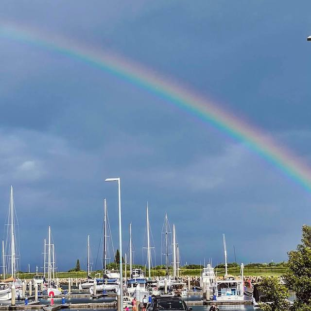 rainbow on Sunday morning