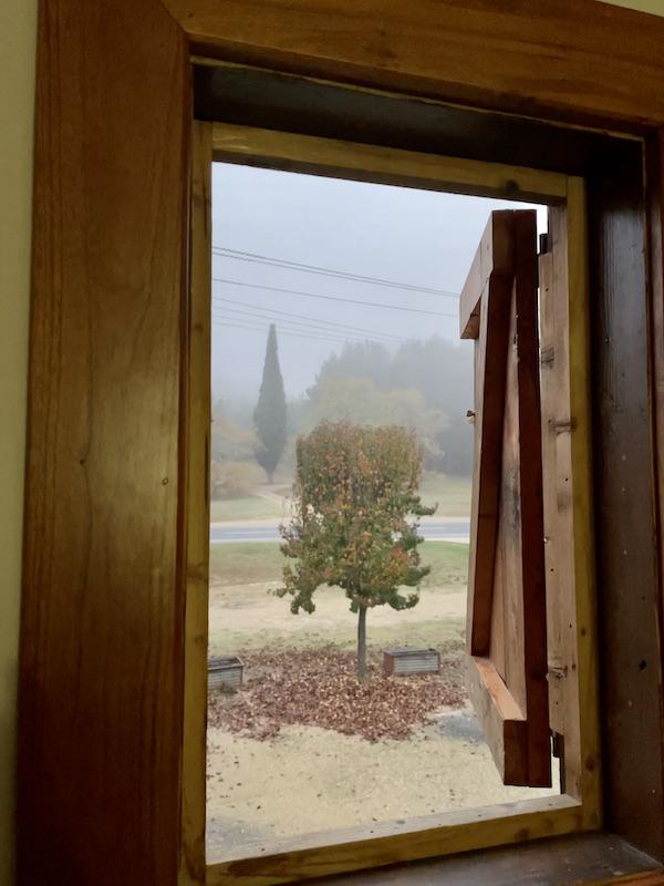 Foggy window shot