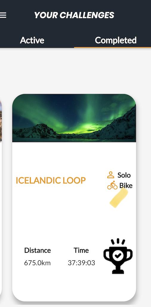 I've completed the Icelandic loop challenge