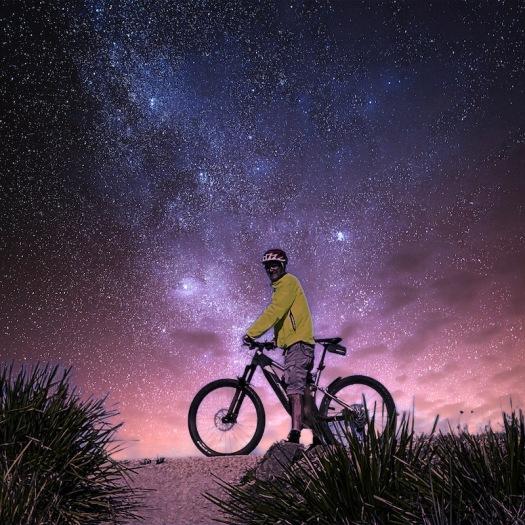 Grant on bike