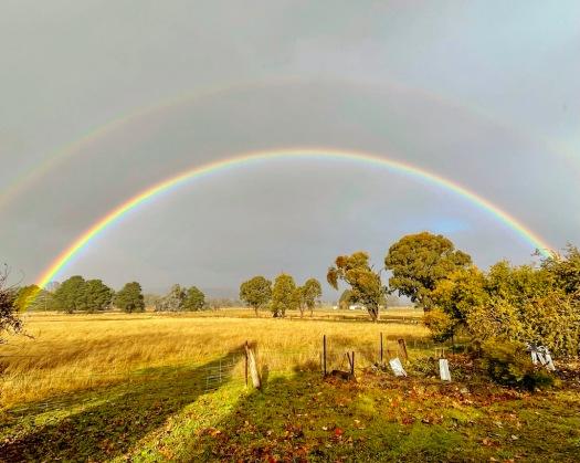 rainbow from the verandah