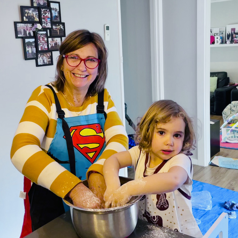 Cooking together - Granny Debs with Miss E